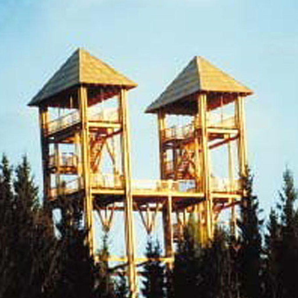 Ausflugsziel Turm im Gebirge